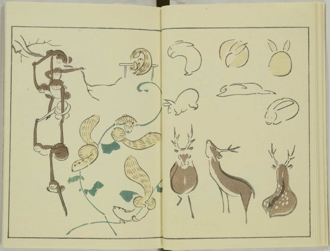18th Century Illustrated Animals by Keisai Kuwagata