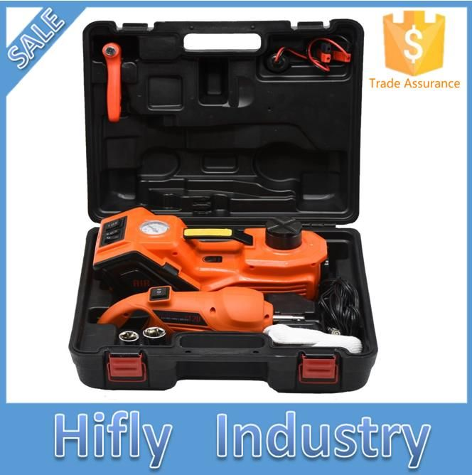 Compare Price DC12V 3.5T(6600lb) 3 in 1 Electric Hydraulic Floor Jack Tire Inflator Pump and LED Flashlight Set with Electric Impact Wrench #DC12V #3.5T(6600lb) #Electric #Hydraulic #Floor #Jack #Tire #Inflator #Pump #Flashlight #with #Impact #Wrench