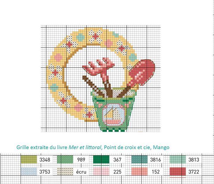300 best point de croix grilles gratuites free pattern cross stitch images by aux petits - Veronique enginger grille gratuite ...