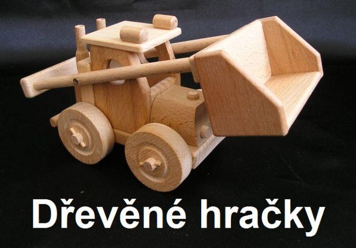 Dřevěné hračky, zemědělský nakladač bobík