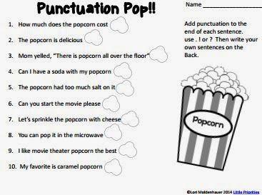 Classroom Freebies Too: Pop! Pop! Pop!