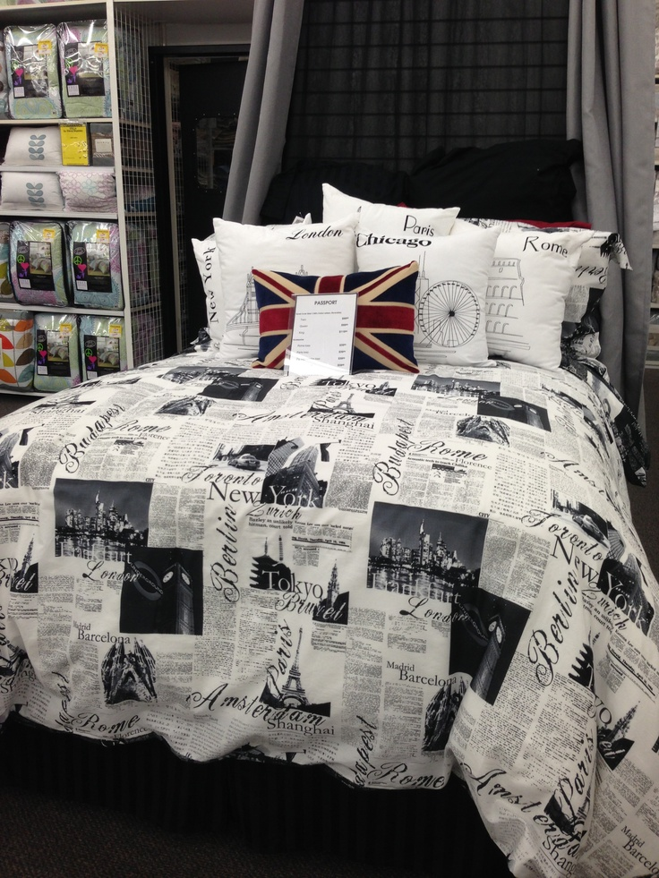 Passport bedding so i can dream about traveling to the for Places to get bedroom sets