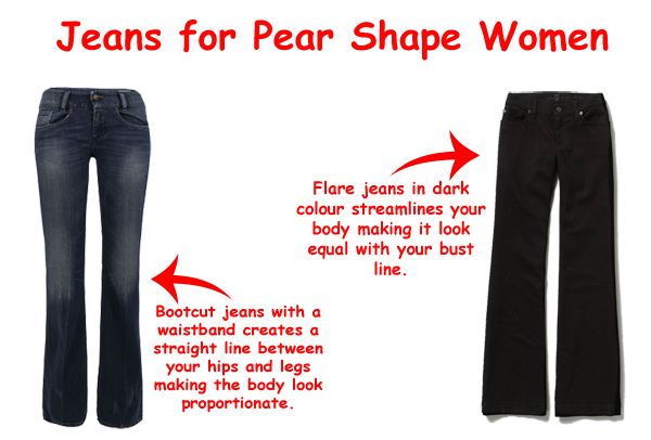how to wear jeans when you are a pair shape