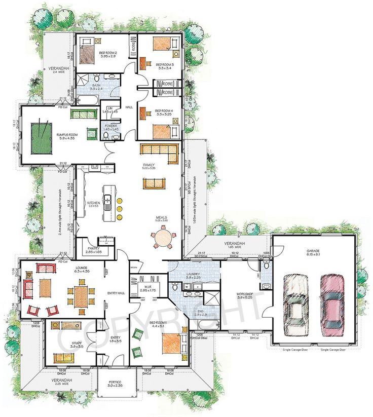 best 25+ 6 bedroom house plans ideas only on pinterest