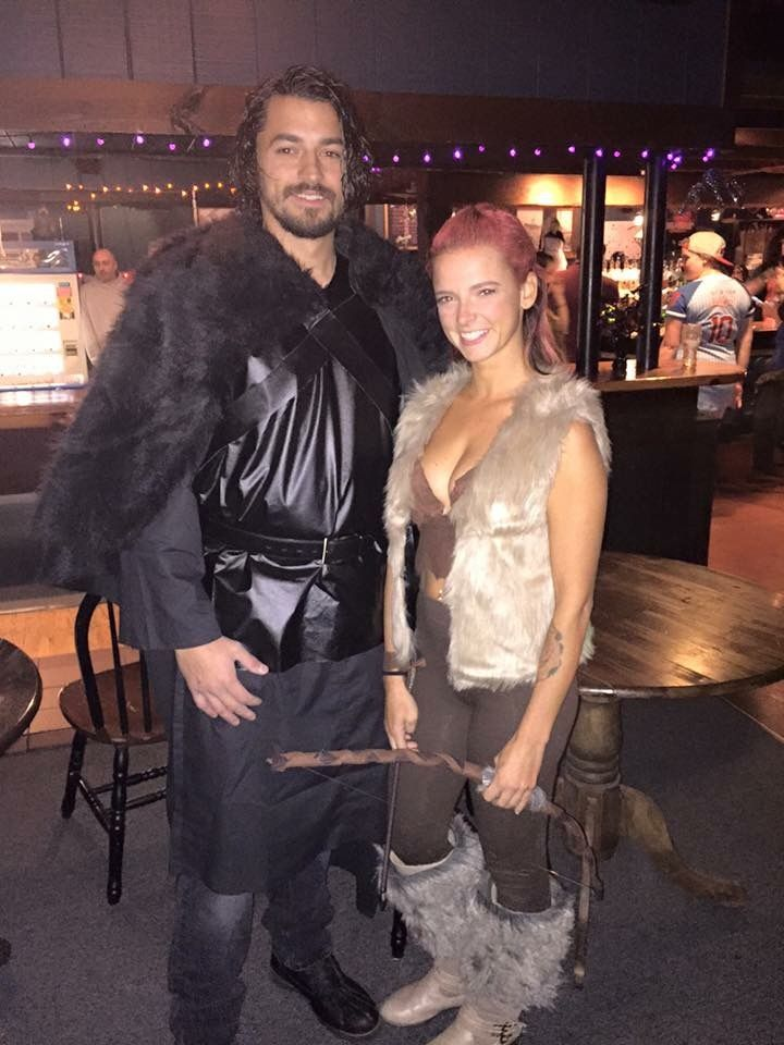 Jon Snow & Ygritte. Game of Thrones couples costume :)