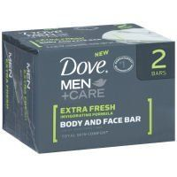 Dove Men +Care Body & Face Bar, Extra Fresh, 4 oz, 2 pk by Dove, http://www.amazon.com/dp/B003FBRUHM/ref=cm_sw_r_pi_dp_f7wYrb17K0CXB