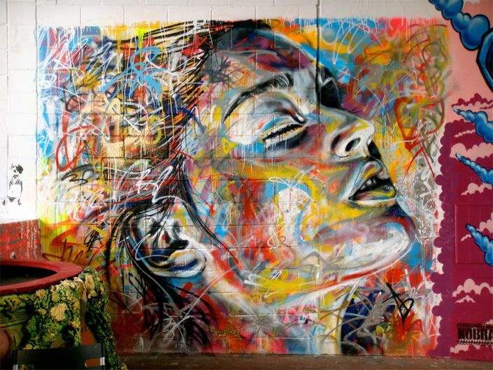 No Brushes, Just Spray Paint!  The portrait art of David Walker.