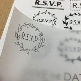 結婚式の招待状で使える消しゴムはんこを作ろう!【無料デザイン・作り方公開】 part.1