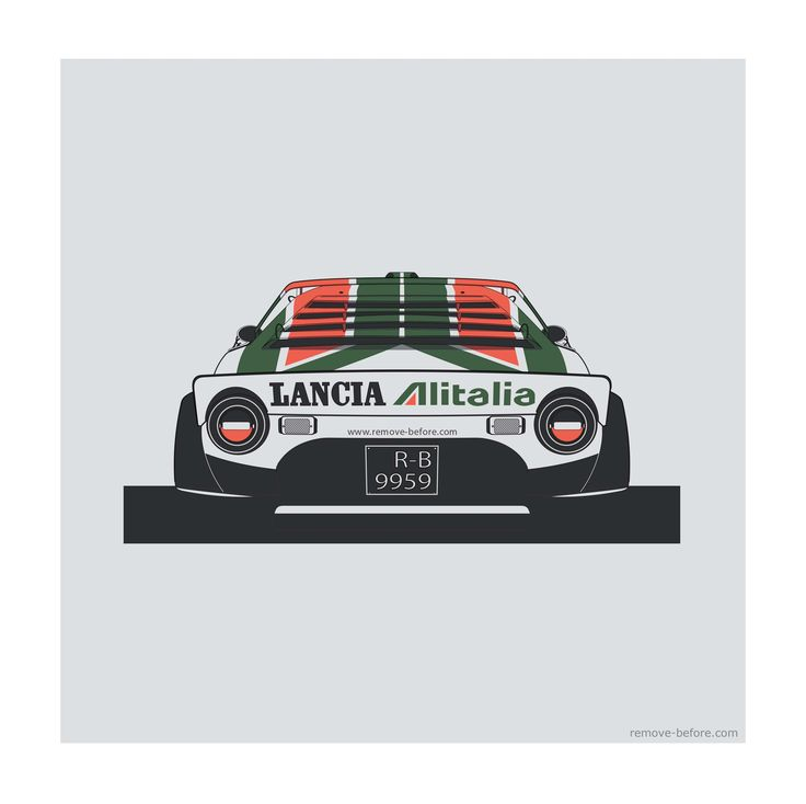 Remove-Before Limited Edition Classic Car Print - Lancia Stratos Car Artwork