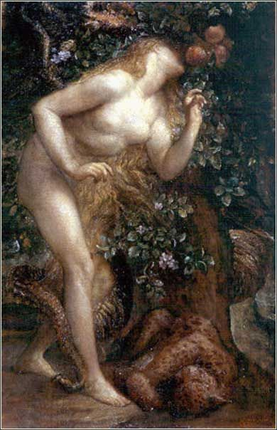 Eve Tempted by George Frederic Watts ca. 1884.