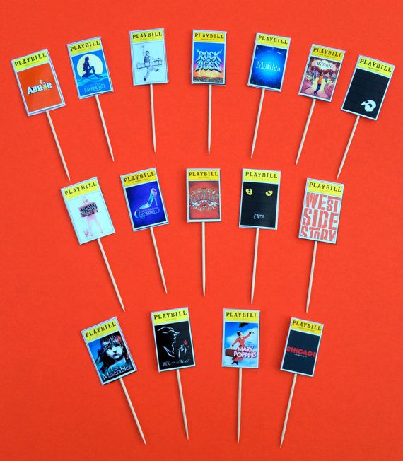 Broadway Party Playbills for Centerpieces  Set of by jacolynmurphy