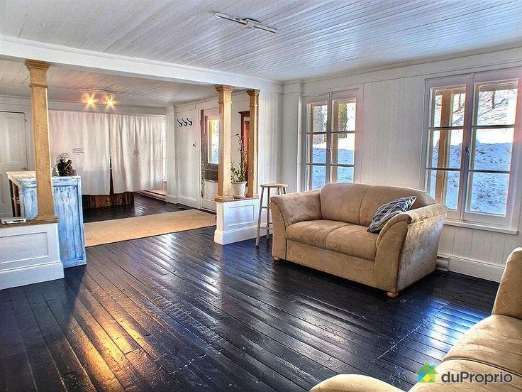 Les 25 meilleures id es de la cat gorie planchers peints en blanc sur pinterest plancher blanc for Peindre plancher bois franc