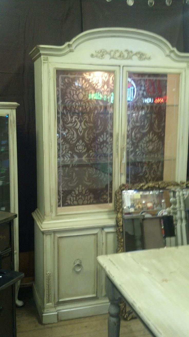 Hand Painted China Hutch By Kelliescreations.com Like Me On Face Book Under  Kellies Creations