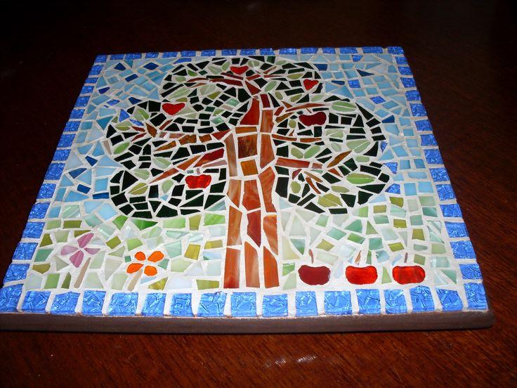 mosaico portacalientes o cuadro para cocina