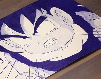 """Check out new work on my @Behance portfolio: """"Gohan Ballpoint Pen Drawing"""" http://on.be.net/1RQlnxe"""