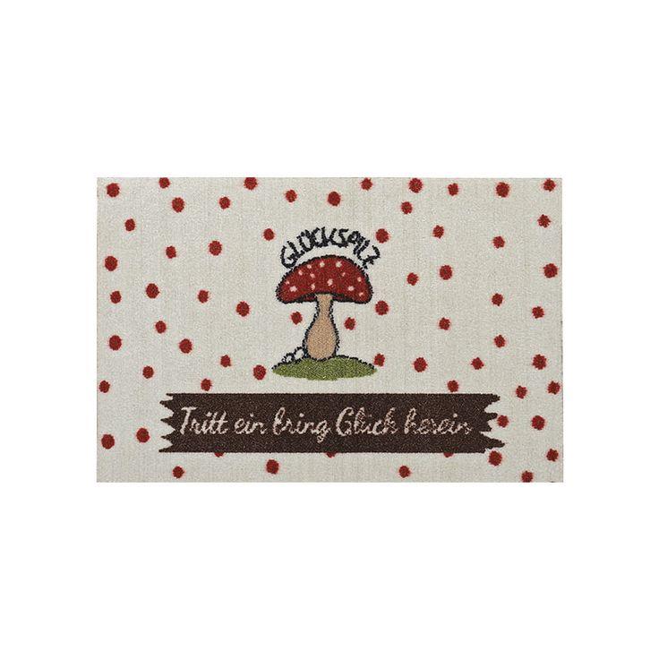 Fußmatte GLÜCKSPILZ weiß bunt mit Fliegenpilz - TRITT EIN BRING GLÜCK HEREIN in Möbel & Wohnen, Teppiche & Teppichböden, Tür- & Bodenmatten | eBay!