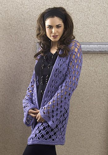 A Great crocheted jacket from Caron, a free download