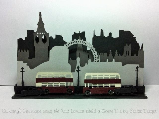 Made using the Xcut London Build A Scene Die