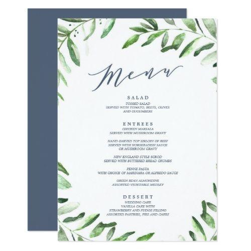 Best 25+ Wedding Menu Cards Ideas On Pinterest