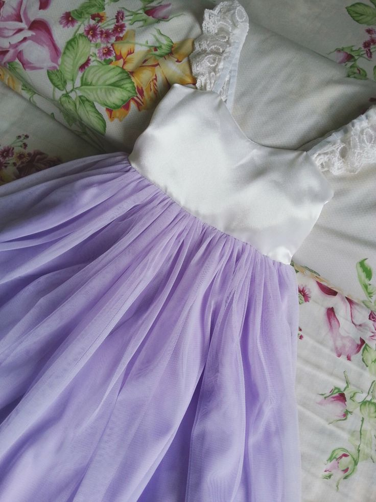Ivory and Lavender Flower Girls dress, Lilac flower girl dress, Lavender flower girl dress, Rustic flower girl dresses. by Happy2sisters on Etsy https://www.etsy.com/listing/232818806/ivory-and-lavender-flower-girls-dress
