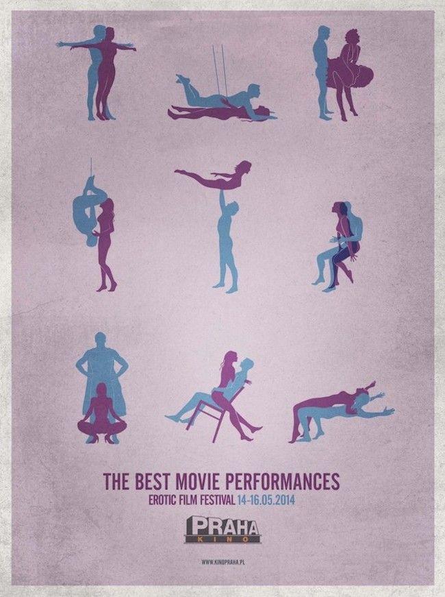 Els cartells del festival de cinema eròtic de Praga