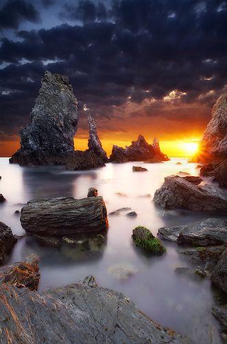 Sunset in Belle ile en Mer, Morbihan, Bretagne, France