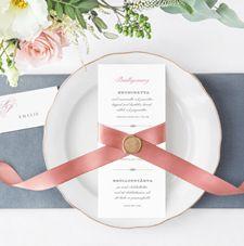 Bröllopsmeny från serien Vintage.  #bröllopskort #bröllopsmeny #meny #bröllop