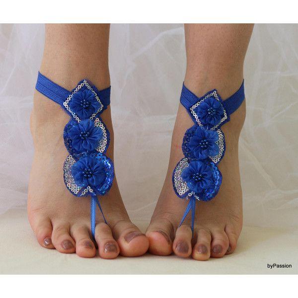 Costume di Blu Royal, matrimonio sulla spiaggia, sandali a piedi nudi,... ($22) via Polyvore featuring costumes