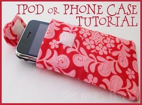 Tutorial on how to make an iPod or phone case. I should try this for my Galaxy Tab!