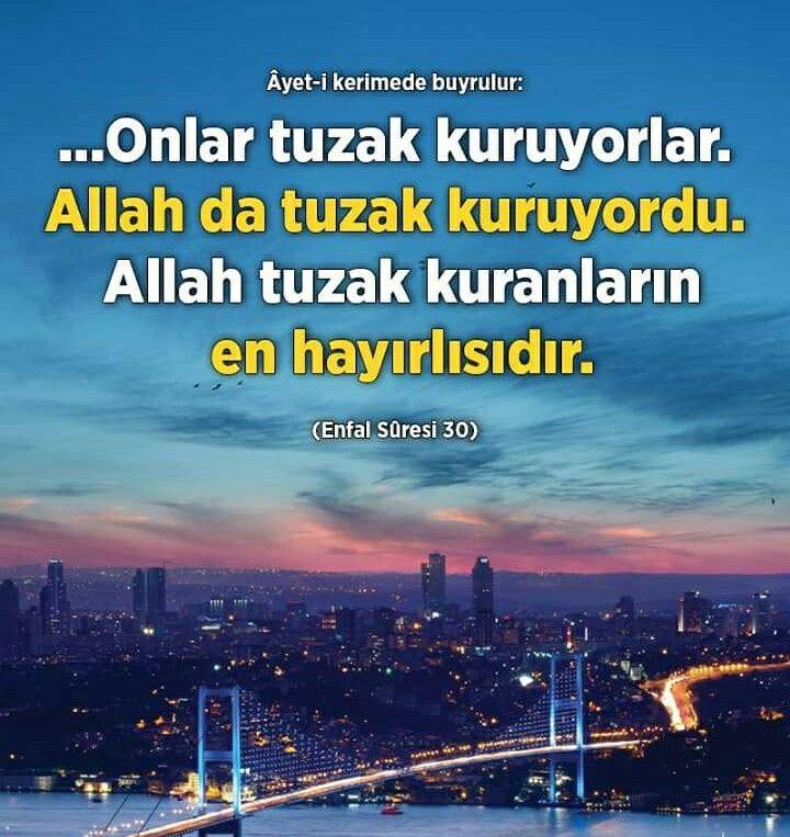 ✋ Allah (cc) tuzak kuranların en hayırlısıdır.  #hayırlı #tuzak #Allah #islam #müslüman #ayet #imtihan #insanlar #ilmisuffa