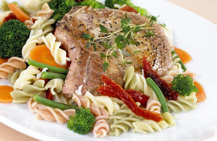 Koteletter med pasta | www.greteroede.no | Oppskrifter | www.greteroede.no