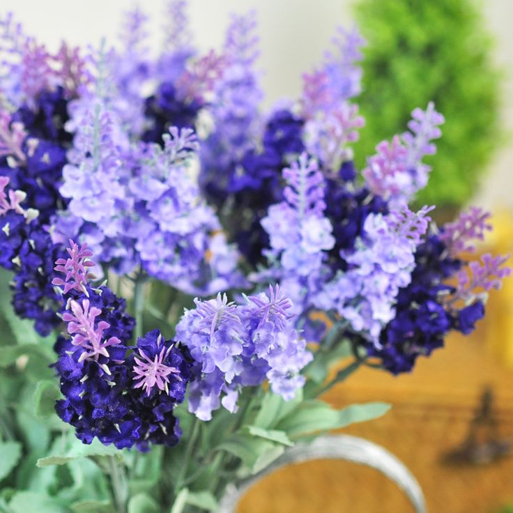 Artificial lavender flowers craft mediterranean style silk flowers home decor bar household artificial flowers for decoration