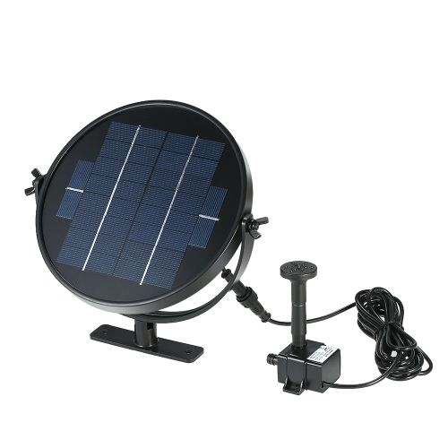 12.21$  Buy here  - Anself 9V 3W Solar Panel Solar Powered Fountain Submersible Brushless Water Pump Kit for Bird Bath Pond Pull 190L/H 170cm Lift