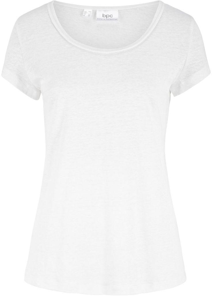 Leinen-Shirt mit Ausschnittdetail