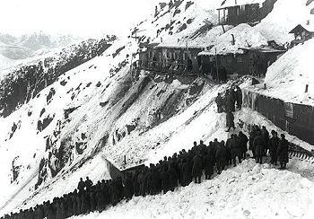 Colbricon: giuramento in occasione della visita del Kajser Karl. novembre 1917