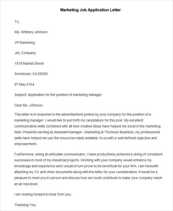 94 Best Free Application Letter Templates Amp Samples Pdf