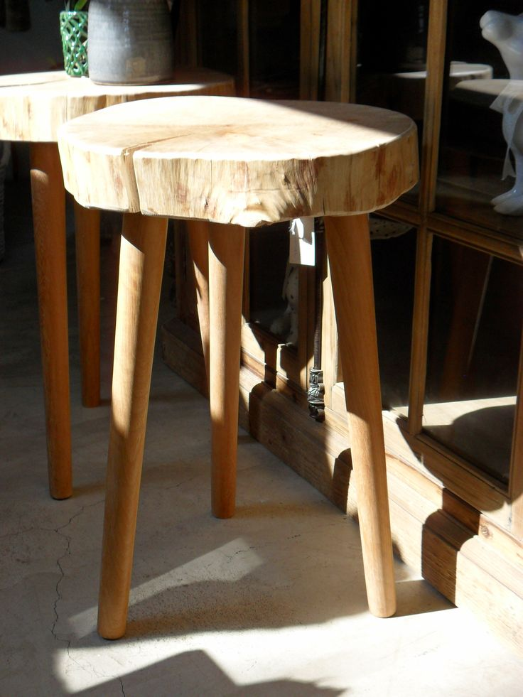 Organic Milkmaid Stool   H 620mm X Diameter 400mm   Inside Out Home Boutique