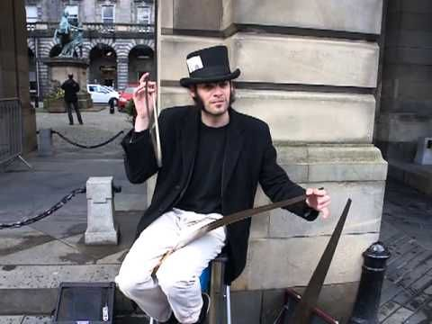Portugese Musical Saw Musician - Unnerving - Vaudevillian - Plays with my Heart is Funny Ways
