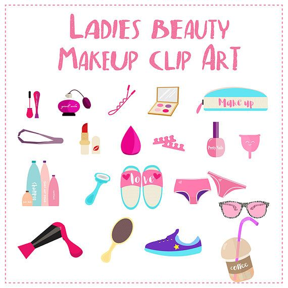 Beauty Vector ClipArt,Beauty Blender,Makeup Clipart,Fashion clipart,Cosmetic Clipart, Mascara Clipart, Eye Shadow, Lipstick,Menstrual Cup