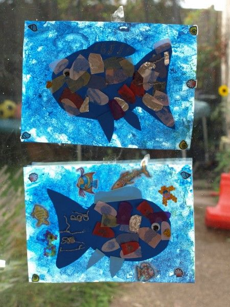 The Rainbow Fish Window Art | Here Come the Girls
