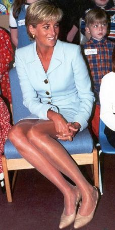 April 15, 1997: Diana, Princess of Wales at the Royal Brompton Hospital Diana visited Cystic Fibrosis sufferers and other patients in West London.