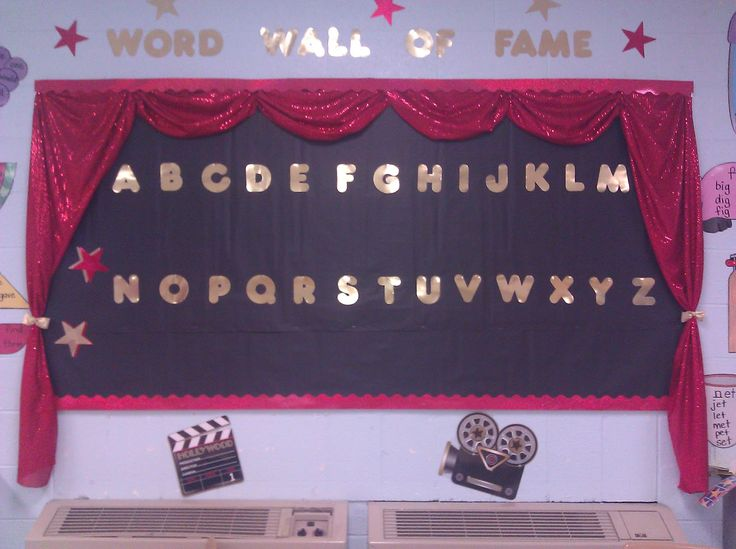 My Hollywood themed Word Wall of Fame. So proud of myself!