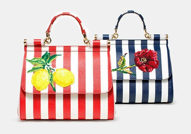 Dolce & Gabbana Bags Sicily from Collection ❤Italia is Love❤ Spring-Summer 2016. Leather Dauphine Bags printed with embroidery.