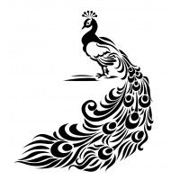 "Perfect Peacock (2.5"" x 3"")"