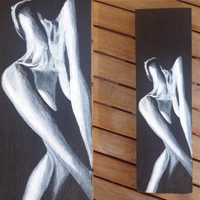 #black #white #lowkey from #photo to #wood #painting #acrylics #woman #body #curves #homedecor #art #decoration #wall #handmade #resim #tablo #sanat #siyah-beyaz #dekor #dekorasyon #duvar #woodart #balsa #ahşap #ahsapboyama #N4Joy