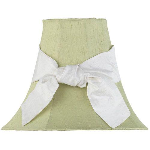 Green Lamp Shade with White Sash from PoshTots