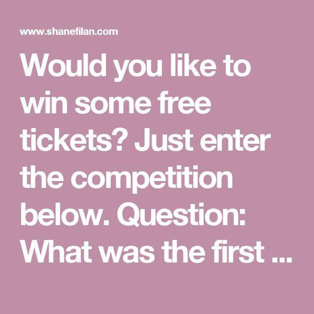 Would you like to win some free tickets? Just enter the competition below. Question: What was the first single from Love Always? A. Heaven B. I cant make you love me C. Unbreakable To enter, send us your name, email address, phone number and the answer as shown below. T&Cs apply. Winners will be notified by email on Friday 29th September 2017. Competition is open to everyone. Prize includes complimentary show ticket for London Shepherds Bush Empire on Sunday 1st October 2017 only. No travel…