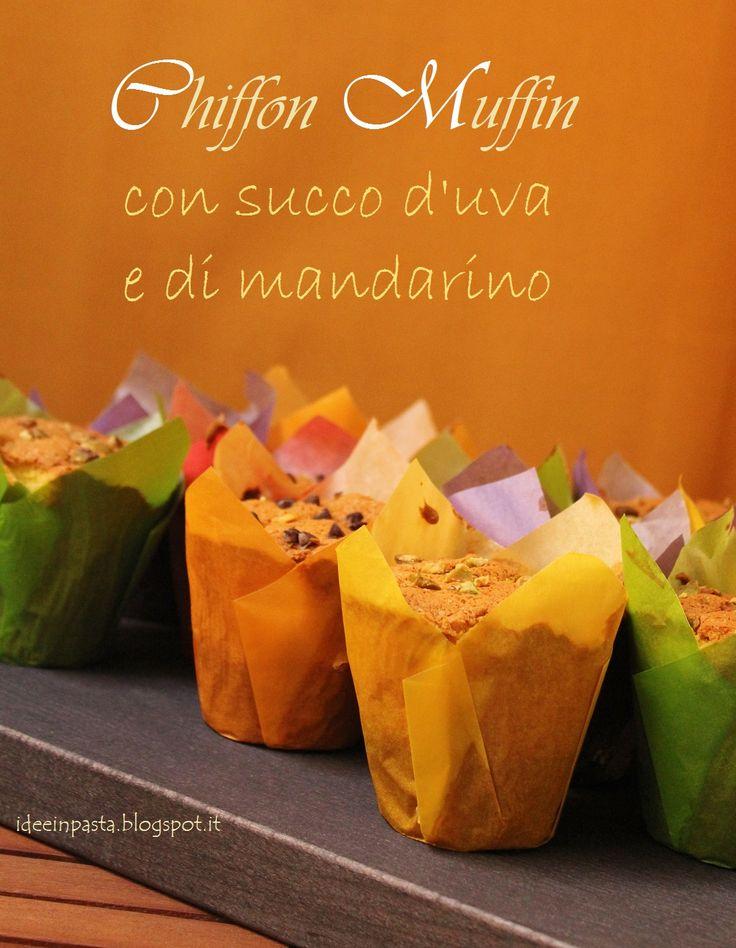 Muffin fluffosi con succo d'uva e mandarino