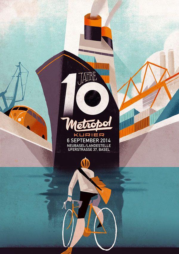 10 Years of Metropol Kurier – Illustrations by Riccardo Guasco.