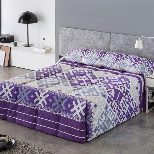 Edredón Conforter ARGEL de la firma Sansa. Los diseños geométricos como este modelo de Sansa son muy versatiles y pueden vestir cualquier habitacion de la casa, desde el dormitorio principal hasta el de los niños.